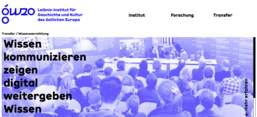 Screenshot der Instituts-Homepage
