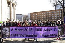 Weltfrauentag Demonstration in Berlin am 8. März 2015, picture alliance / Geisler-Fotopress