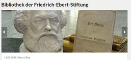 Screenshot der Website der Bibliothek