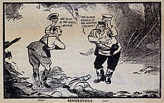 Englischsprachige Karikatur von David Low, The Evening Standard vom 20. September 1939 (GB), picture-alliance / maxppp