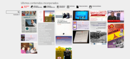Screenshot der Institutswebsite: Centro de Estudios y Documentación de las Brigadas Internacion