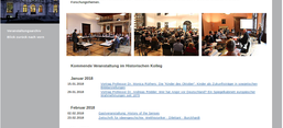 Screenshot der Website des Historischen Kollegs