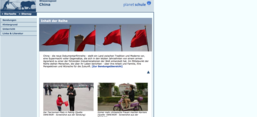 "Screenshot des ""Wissenspool China"" auf der Website planet-schule.de"