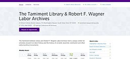Screenshot: The Tamiment Library & Robert F. Wagner Labor Archives