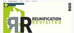 Screenshot der Website Reunification Revisited