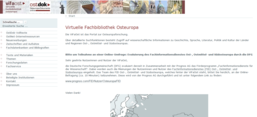 Screenshot: Virtuelle Fachbibliothek Osteuropa