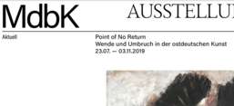 "Ausstellung ""Point of No return"", Screenshot von mdbk.de"