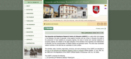 Screenshot der Website des Genocide and Resistance Research Centre of Lithuania